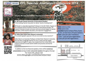 EFL Teacher Journeys Conference, Kyoto June 22, 2014