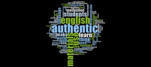 Word Cloud of Word Frequency from my research into authenticity